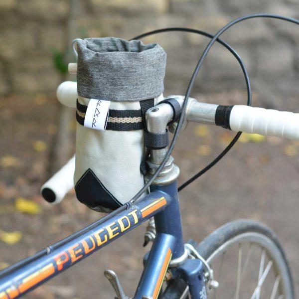 Sacoche de guidon de vélo grise RQR