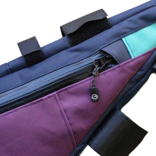 Fermeture éclair YKK imperméable violet bleu turquoise