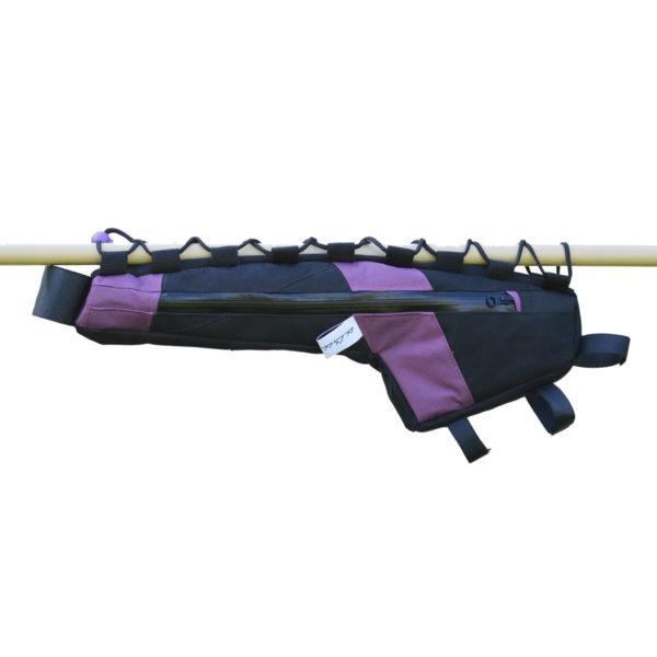 Sacoche de cadre imperméable violet et noir