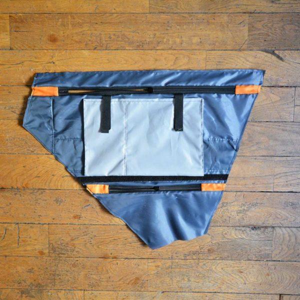 Doublure imperméable d'une sacoche de cadre sur-mesure