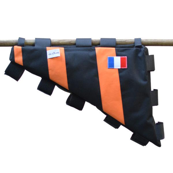 Sacoche vélo cadre orange et noir RQR