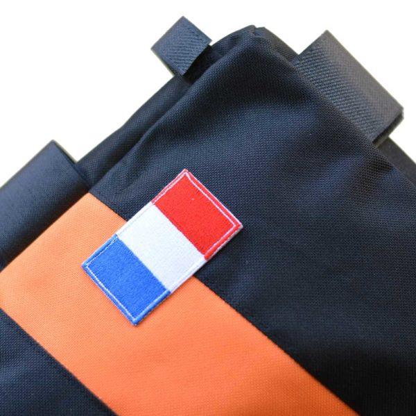 Sacoche vélo cadre orange noir fabrication française