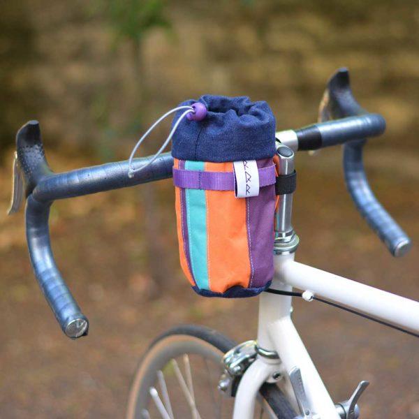 Petite sacoche vélo de guidon multicolore
