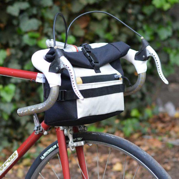 Sacoche de vélo pour guidon: gris, noir