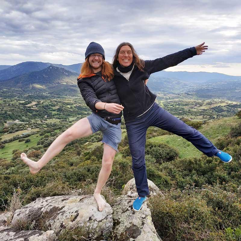 Florie et Patrick en voyage vélo en Sardaigne
