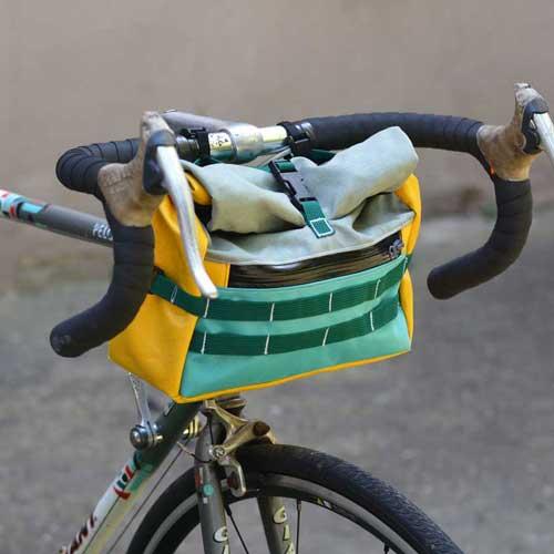 Sacoche vélo de guidon sur mesure made in France