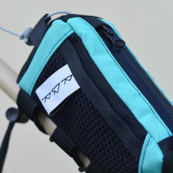 Sacoche de vélo top tube: noir et bleu
