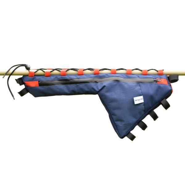 Sacoche de cadre bleu marine et rouge