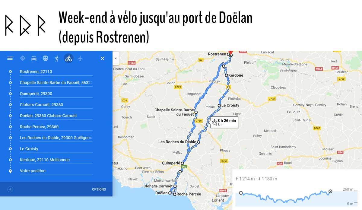 Idée balade à vélo depuis Rostrenen