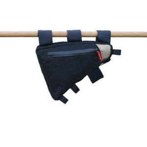 Petite sacoche de cadre noire sur mesure