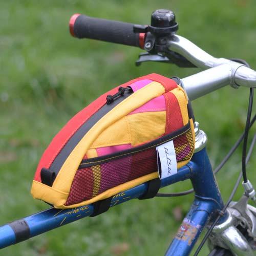 Sacoche vélo top tube artisanale